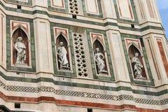 Fragment of facade Duomo Santa Maria del Fiore, Florence, Italy Stock Image