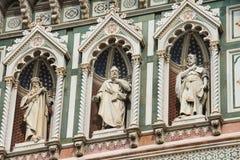 Fragment of facade Duomo Santa Maria del Fiore, Florence, Italy Royalty Free Stock Image