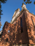 A fragment of the facade of the historic cathedral city of Sando Stock Photo