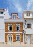 Fragment of the facade of the house in Cascais. Portugal stock photos