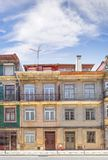 Fragment of the facade of the house. Porto, Portugal royalty free stock photos