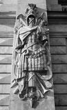 Fragment of facade of the Mikhailovsky Castle. Royalty Free Stock Photo