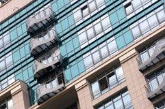 Fragment of the facade of a modern house Stock Photos