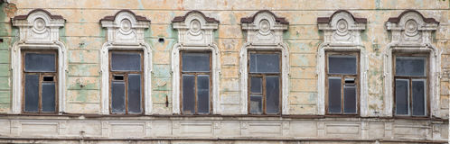 Fragment of a facade of the old building, Stock Photo