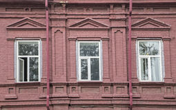 A fragment of a facade of the old building Royalty Free Stock Photo