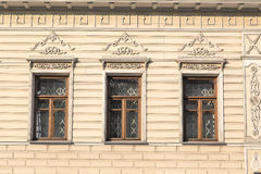 A fragment of a facade of the old building Stock Photo