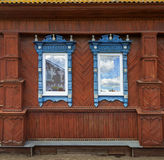 Fragment of facade of one of the houses in the Semenov city. Niz Stock Photos