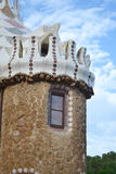 Fragment of fairy tale house in Park Guell Stock Photo
