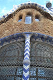 Fragment of fairy tale house in Park Guell Royalty Free Stock Photography