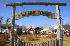 Fragment of Farmtown Royalty Free Stock Photo