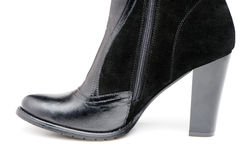 Fragment female leather shoes Stock Photography
