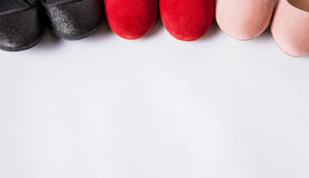 Fragment of female shoes/ballet shoes Stock Photo