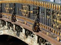 Fragment of fence of bridge. Stock Photography