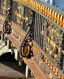 Fragment of fence of bridge. Stock Photo
