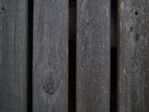 Fragment of the fence of vertical wooden plank, which became gray with age. Close up royalty free stock photos