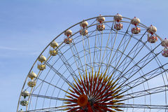Fragment of a ferris wheel Royalty Free Stock Images
