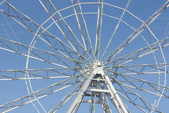 Fragment of the ferris wheel against the  sky Stock Photography
