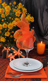 A fragment of a festive table for Halloween Royalty Free Stock Image