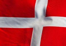 Fragment of the flag of Denmark Royalty Free Stock Photos