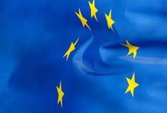 Flag fragment of  European Union in sunshine Stock Photo