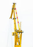 Fragment of  floating crane on the construction  the bridge. A fragment of a floating crane on the construction of the bridge Stock Images