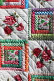 Fragment of flower quilt Royalty Free Stock Images