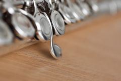 Fragment flute closeup Royalty Free Stock Photography