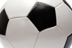 Fragment of football soccer ball Royalty Free Stock Photo