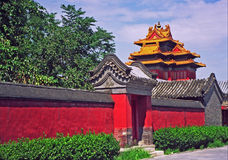 Fragment of the forbidden city in Beijing Stock Photo