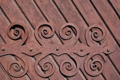 Fragment of forged hinge royalty free stock images