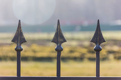 Fragment forged metal fence Stock Photos