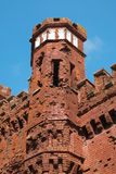 Fragment of the fortress tower Royalty Free Stock Photos