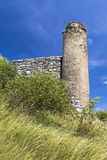 Fragment of the fortress wall. Spies Castle. Slovakia stock photos