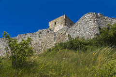 Fragment of the fortress wall Stock Photos