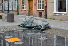 Fragment of the fountain of Four Quarters in Gdansk, Poland Royalty Free Stock Images