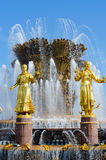 Fragment of fountain Friendship of peoples, Exhibition Center, M Royalty Free Stock Images