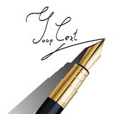 Fragment of fountain pen Stock Photo