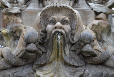 A fragment of the fountain in Rome Royalty Free Stock Photo