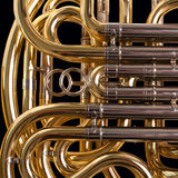 Fragment french horn Stock Images