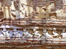 Fragment of fresco in the old Kings Palace Royalty Free Stock Photos