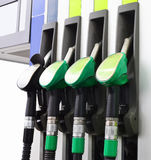 Fragment of a fuel-dispensing column Royalty Free Stock Photo