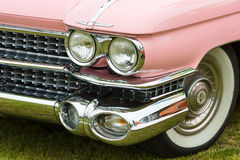 Fragment of a full-size luxury car Cadillac de Ville Stock Photography