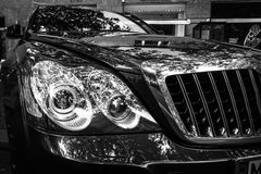 Fragment of a full-size luxury car Maybach S57 Stock Photo