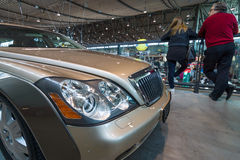 Fragment of full-size luxury car Maybach 57S, 2006. Stock Images