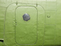 Fragment of the fuselage skin of the aircraft AN-2 Royalty Free Stock Photo