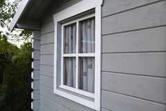 Fragment of a garden house Stock Photo