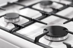 Fragment of a gas kitchen stove Stock Photo