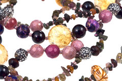 Fragment gemstone lady's bead closeup Royalty Free Stock Photography