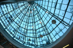 Fragment of a glass dome roof Royalty Free Stock Photography