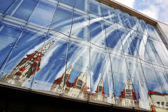 Fragment of the glass facade. Stock Image